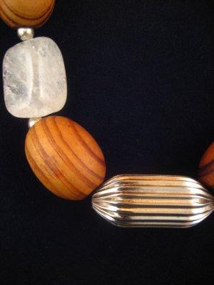 Wood & Quartz Necklace : DMD1012