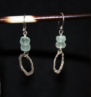 Aquamarine Rondelles Earrings - DMD0238