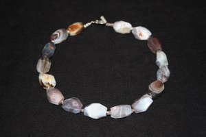 African Botswana Agate Necklace - DMD0009