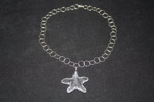 Large Clear Swarovski Crystal Starfish - DMD0205