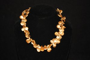 Golden Keishi Coin Pearl Necklace - DMD0369
