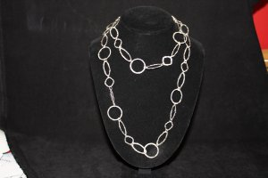 Hammered Sterling Chain Necklace - DMD0363