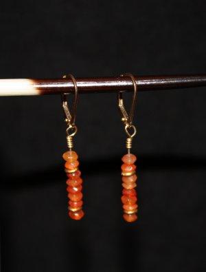 Carnelian Rondelle Earrings - DMD0272