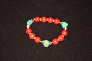 Sponge Coral woth Sterling Cones Bracelet - DMD1911