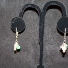 Sterling Silver, Crystal and Emerald Earrings - DMD1970