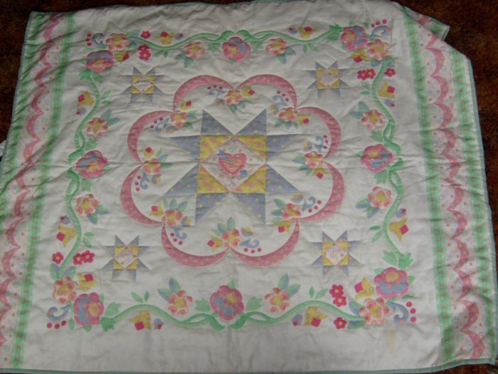 hand quilted lap quilt/baby quilt