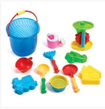 Sand Bucket Beach Toy Play Set