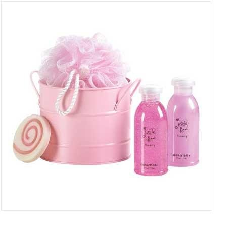 Jessie B Pink Bath Bucket Set