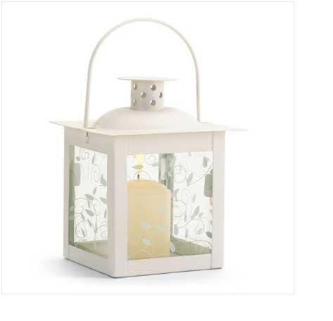 Small Ivory Color Glass Lantern