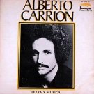 ALBERTO CARRION - Letra Y Musica - LP