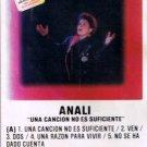 ANALI - Una Cancion No Es Suficiente (1990) - Cassette Tape