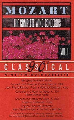 MOZART - The Complete Wind Concertos (1987) - Cassette Tape