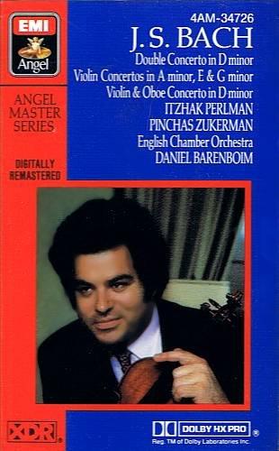 BACH: VIOLIN CONCERTOS - Perlman / Zukerman / Barenboim (1985) - Cassette Tape
