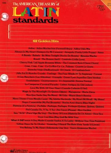 American Treasury Of Latin Standards : 62 Golden Hits
