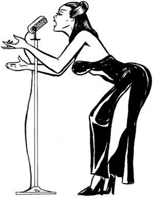 Singer  -- 11 By 17 -- Unframed