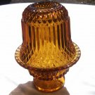 Indianna Glass-Amber Diamond Cut Fairy Lamp