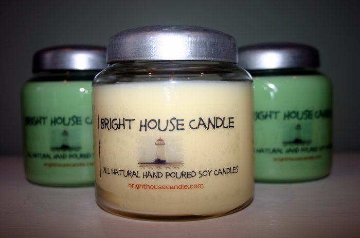 16 OZ Glass Jar Soy Candle With Metal Lid