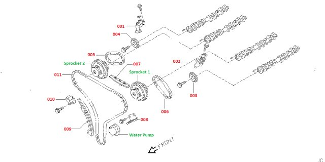 Nissan Skyline - Genuine VQ25DD VQ30DD 250GT 300GT Timing Chain Kit