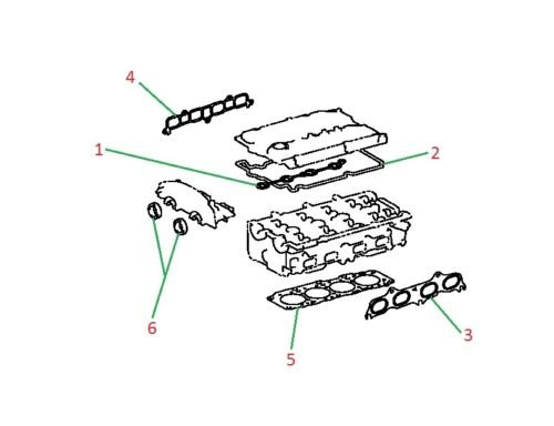 Genuine Toyota Altezza SXE10 - 3SGE Cylinder Head Repair Gasket / Seal kit