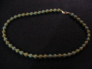 Blue and green earth stone necklace