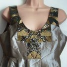 Pied A Terre Sequin Taffeta Dress Gold Size 12 - RRP £150