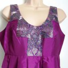 Pied A Terre Sequin Taffeta Dress Aubergine Size 8 or 10 - RRP £150