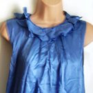 Pied A Terre Frill Neck Top - Sky Blue - Size 8 BNWT - RRP £75