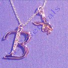 Playboy Platinum Plated Bunny Initial Pendant - Letter B - RRP £25