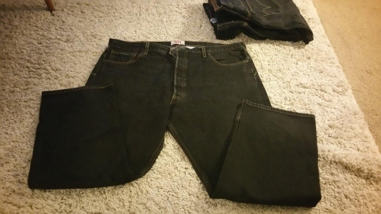 Levi's 501 40x30 Button Fly Jeans - Black