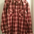 Pendleton Snap-front Western Canyon Shirt XL Red Shadow Plaid
