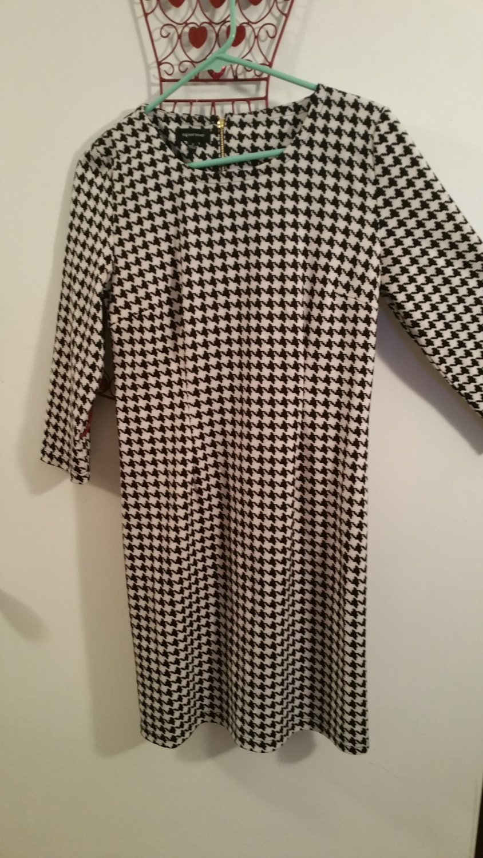 Spense 3/4 Sleeve Belted Ponte Sheath Dress