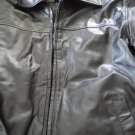 Brand New Mens Chaps Leather Coat size M Black color