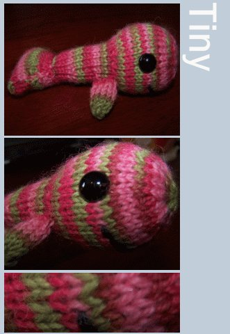 Tiny the Knitted Happy Whale