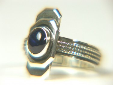 Natural Sapphire Sterling Ring