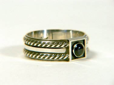 Sapphire Men's Sterling Band