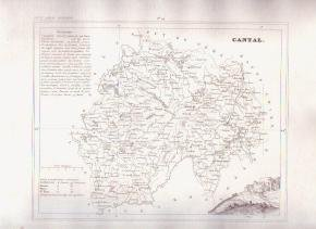 CANTAL FRANCE 1835 Antique Atlas Map Maps Cartography
