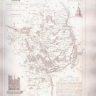 CHER BOURGES FRANCE 1835 Antique Atlas Map Cartography