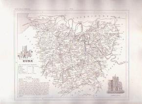 EURE FRANCE 1835 Antique Atlas Map Maps Cartography