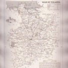 ILLE ET VILAINE FRANCE Antique Atlas Map Cartography