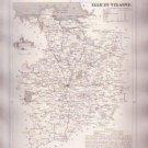 ILLE ET VILAINE FRANCE Antique Atlas Map Cartography