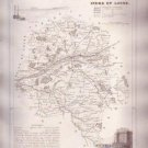 INDRE ET LOIRE TOURS FRANCE 1835 Antique Atlas Map Maps