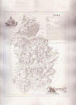 JURA FRANCE 1835 Antique Atlas Map Maps Cartography
