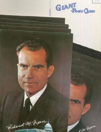 5 Bachrach Photo portrait President Richard M Nixon GIANT Postcards Post Card