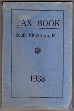 1938 SOUTH KINGSTOWN RI TAX BOOK Directory genealogy