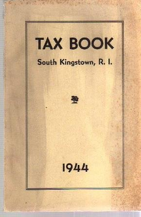 1944 SOUTH KINGSTOWN RI TAX BOOK Directory genealogy