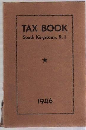 1946 SOUTH KINGSTOWN RI TAX BOOK Directory genealogy