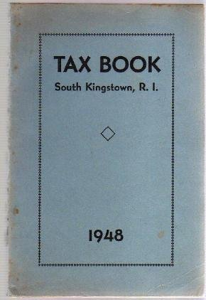 1948 SOUTH KINGSTOWN RI TAX BOOK Directory genealogy