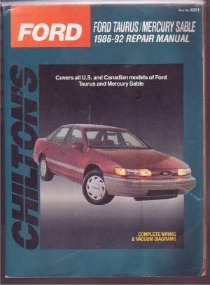 FORD TAURUS MERCURY SABLE 86-92 CHILTON'S REPAIR MANUAL