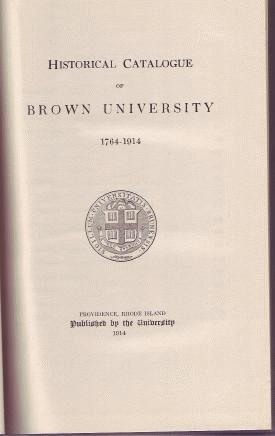 1914 BROWN UNIVERSITY Prov RI Catalog Historical Book