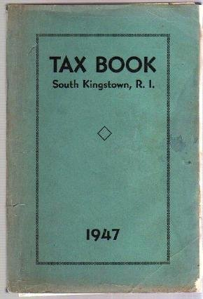 1947 SOUTH KINGSTOWN RI TAX BOOK Directory genealogy